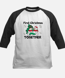Cute First Christmas Together Baseball Jersey