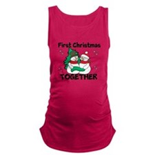 Cute First Christmas Together Maternity Tank Top