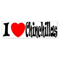I love Chinchillas Bumper Bumper Sticker