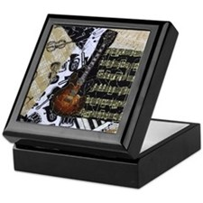 Electric Guitar Keepsake Box