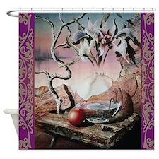 Glass Jar On A Table Shower Curtain