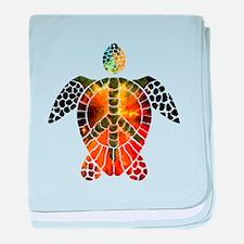 sea turtle-3 baby blanket