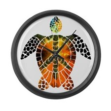sea turtle-3 Large Wall Clock