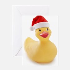 Santa Duck Greeting Cards