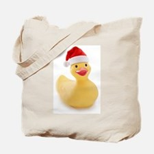 Santa Duck Tote Bag