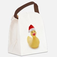 Santa Duck Canvas Lunch Bag