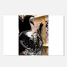 Carnival of Venice: Black Harlequin Postcards (Pac