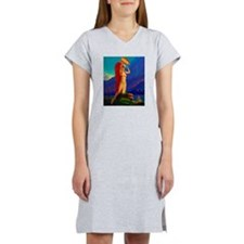 Indian Woman Pin Up Women's Nightshirt