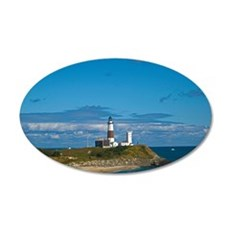 Montauk Point Lighthouse 35x21 Oval Wall Decal