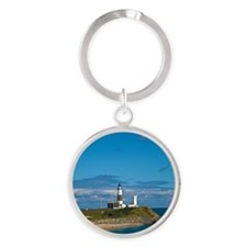 Montauk Point Lighthouse Round Keychain