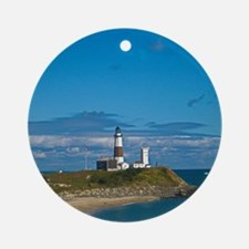 Montauk Point Lighthouse Round Ornament