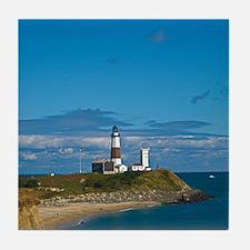 Montauk Point Lighthouse Tile Coaster