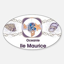 Mauritius ocean Oval Decal