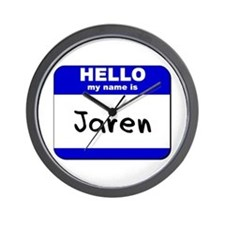 hello my name is jaren  Wall Clock