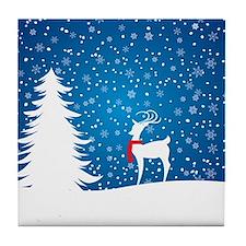 Reindeer in the Snow Tile Coaster
