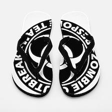 Zombie Outbreak Response Team Flip Flops