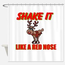 RED NOSE Shower Curtain