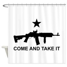 AR15 Gun Come and Take It Shower Curtain
