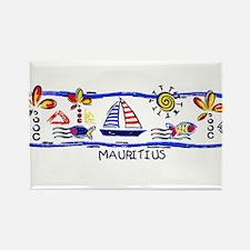Mauritius beach Rectangle Magnet