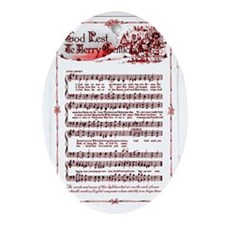GOD REST YE MERRY GENTLEMEN SONG;'[ Oval Ornament