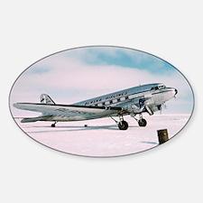 Vintage Alaska Airlines airplane cl Sticker (Oval)