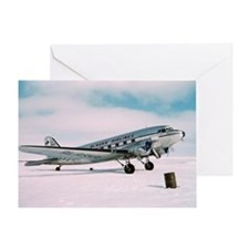 Vintage Alaska Airlines airplane cla Greeting Card