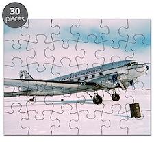 Vintage Alaska Airlines airplane classic av Puzzle