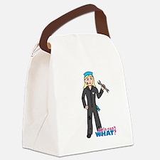 Mechanic Girl Light/Blonde Canvas Lunch Bag