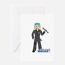 Mechanic Girl Light/Blonde Greeting Card