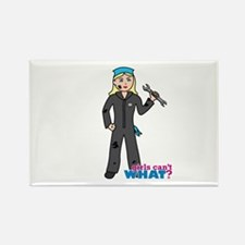 Mechanic Girl Light/Blonde Rectangle Magnet