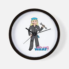 Mechanic Girl Light/Blonde Wall Clock
