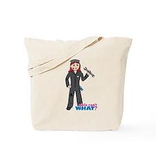 Mechanic Girl Light/Red Tote Bag