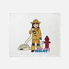Firefighter Woman Medium Throw Blanket