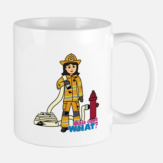 Firefighter Woman Medium Mug