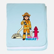 Firefighter Woman Medium baby blanket