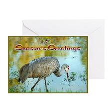 Season's Greetings Crane Holiday Greeting Card