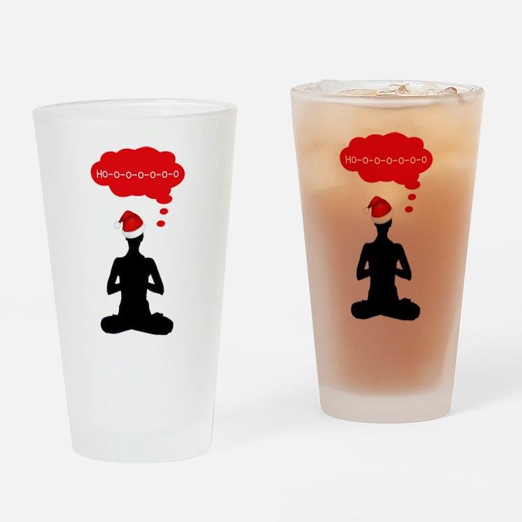 Christmas Yoga Drinking Glass