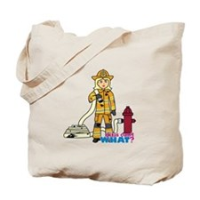 Firefighter Woman Light/Blonde Tote Bag