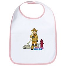 Firefighter Woman Light/Blonde Bib