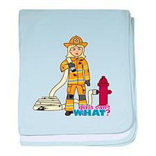 Firefighter Woman Light/Blonde baby blanket