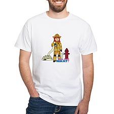 Firefighter Woman Light/Red Shirt