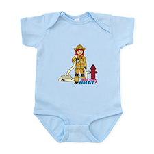 Firefighter Woman Light/Red Infant Bodysuit