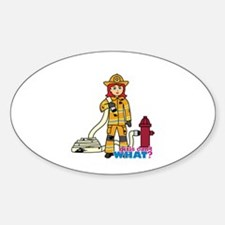 Firefighter Woman Light/Red Decal