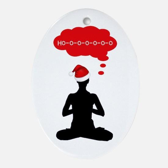 Christmas Yoga Ornament (Oval)