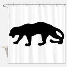 Panther Silhouette Shower Curtain