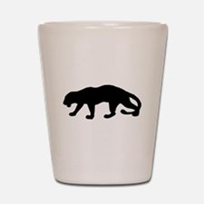 Panther Silhouette Shot Glass