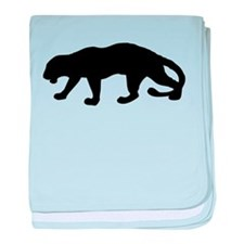 Panther Silhouette baby blanket