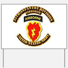 Army - 25th ID - Airborne Yard Sign