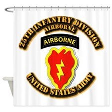 Army - 25th ID - Airborne Shower Curtain