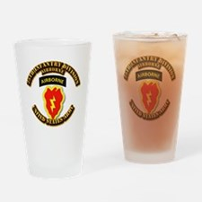 Army - 25th ID - Airborne Drinking Glass